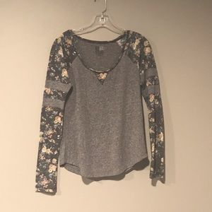 Casual Floral Long Sleeve Shirt